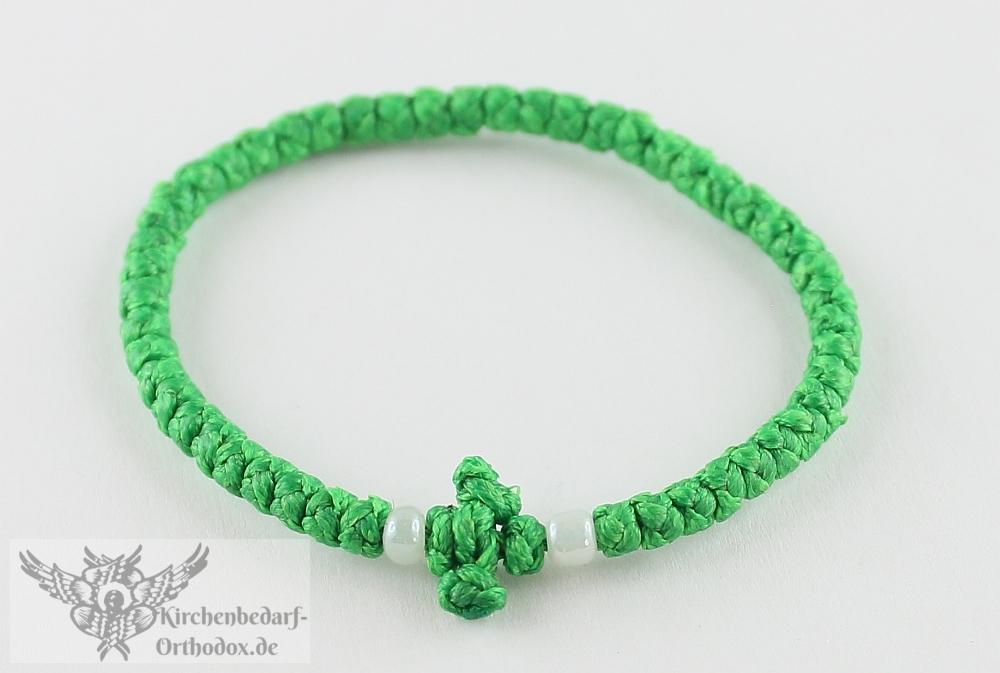 Griechische Komboskini - Grünes Armband Diamantknoten - 50